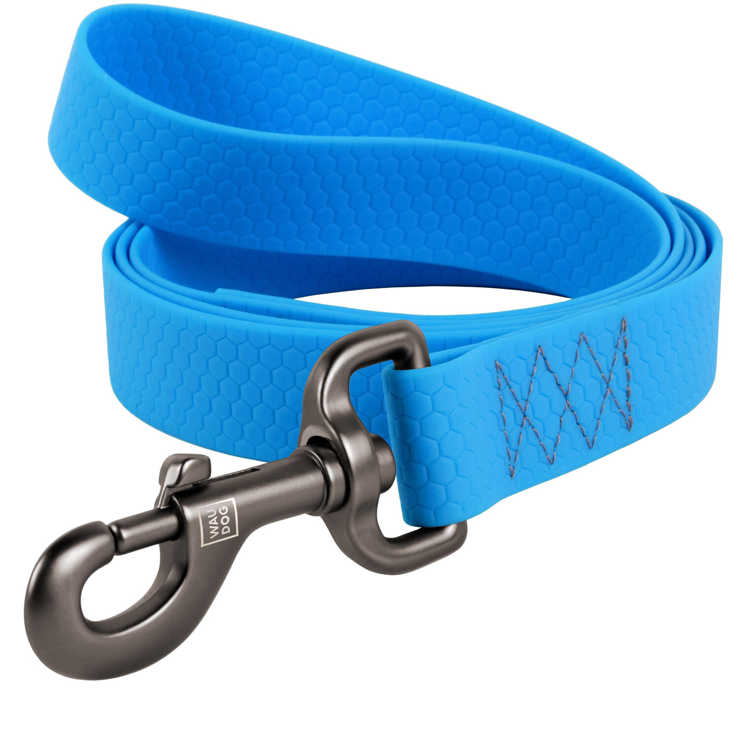 Leash WAUDOG for dogs of medium and large breeds made from waterproof COLLARTEX material, durable aluminum alloy carabiner