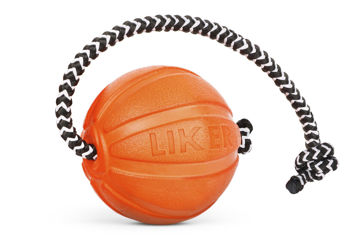 Liker Cord 5 - a ball with a cord for puppies and dogs of small breeds