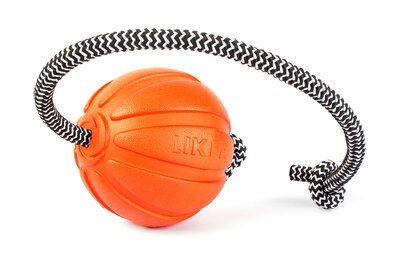 Liker Cord 7 - a ball with a cord for dogs of small and middle breeds