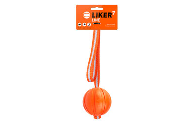 Liker Line 7 - a ball with a ribbon for dogs of small and medium breeds