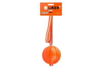 Liker Line 9 - a ball with a ribbon for dogs of large breeds