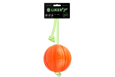 "Liker Lumi 9 - a ball for dogs of large breeds with the ""glow in the dark"" cord"